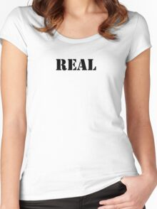 Real (Breasts) Women's Fitted Scoop T-Shirt
