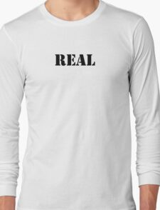 Real (Breasts) Long Sleeve T-Shirt