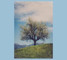 Blossom tree on a hill in Switzerland Kids Clothes