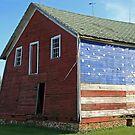 patriotic barn by Lynne Prestebak