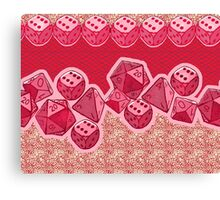 Lucky Dice - Pink Canvas Print