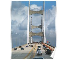 Another View of the Bridge in Jacksonville, Florida Poster