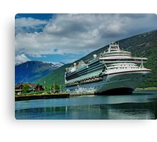 When D boat comes in. Canvas Print