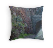 Rail Tunnel Throw Pillow