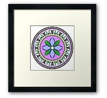 Stylized Floral Medallion Framed Print