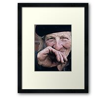 If I have made many versions, it's for maximum choice for everyone ! Portraits : BEST Marie, kindness au Naturel, thank you  10 color  collector  1977  10  (c)(h) by Olao-Olavia / Okaio Créations Framed Print