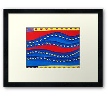 wormholes in time Framed Print