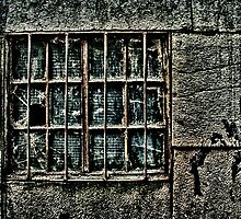 Broken Metal Window Fine Art Print by stockfineart