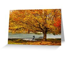 Golden maple warm me up  Greeting Card