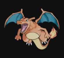 pokemon charizard dragon anime shirt Kids Clothes