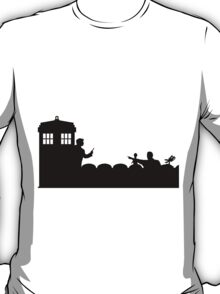 The TARDIS lands on the Satellite of Love T-Shirt