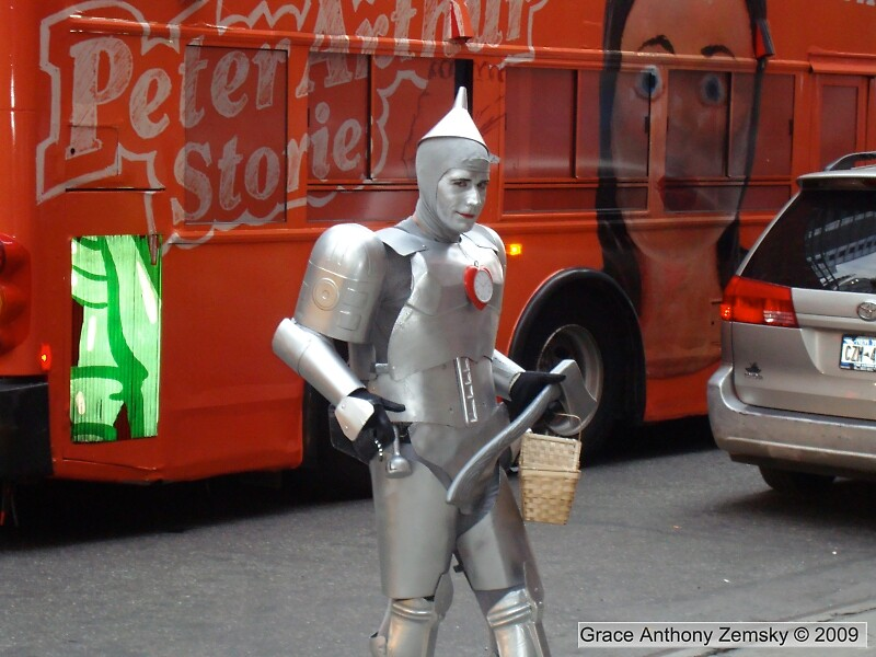 Steely-Eyed Tin Man Caught in the Act by Grace Anthony Zemsky