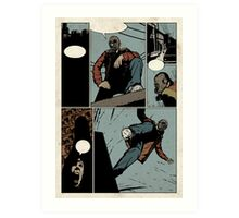 Unlettered Comic Page Art Print