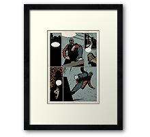Unlettered Comic Page Framed Print