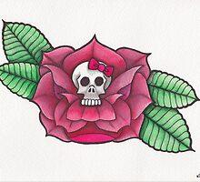 Skull Study - Skull Rose. by geishablack