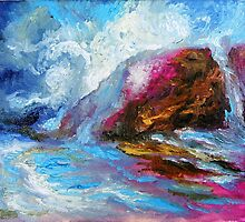 BIG SUR, Pfeiffer Beach Storm Coming In by Barbara Sparhawk