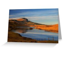 Old man of Storr, Trotternish, Isle of Skye, Scotland. Greeting Card