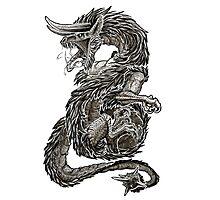 Djinn - Dragon Photographic Print