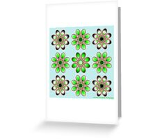 Shades of Green Foot Flowers Greeting Card