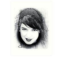 Black eyes Art Print
