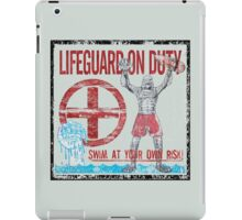 The Lifeguard Creature Is On Duty (2) variant iPad Case/Skin