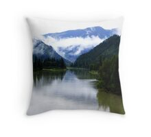 North Thompson River Throw Pillow