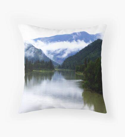 North Thompson River Throw Pillow