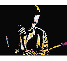The Lonely Jazz player Photographic Print
