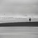He Went Walking...After Sunrise... With the Birds flying... with the Ocean roaring...  by Jenny Miller