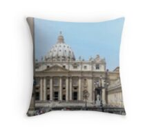 St Peters Square Rome Throw Pillow