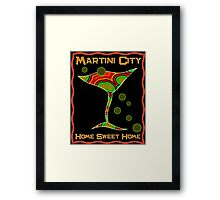 Martini City Framed Print