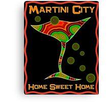 Martini City Canvas Print
