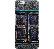 Abandoned Metal Window Fine Art Print iPhone Case/Skin