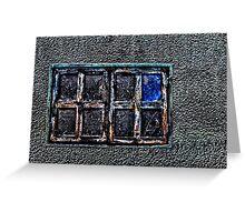 Abandoned Metal Window Fine Art Print Greeting Card