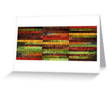Forty Five Stripes Greeting Card