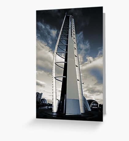 Monochrome Tower Greeting Card
