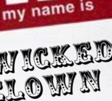 Wicked Clown Sticker