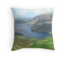 Crummock Water, Buttermere, Cumbria Throw Pillow
