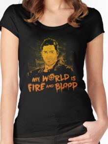 My World is Fire Women's Fitted Scoop T-Shirt