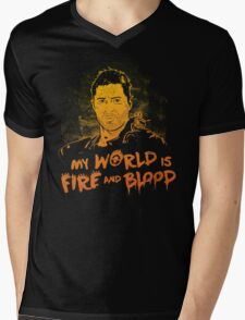 My World is Fire Mens V-Neck T-Shirt