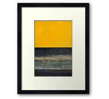 Yellow on Blue Framed Print