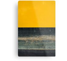 Yellow on Blue Metal Print