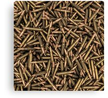 Rifle bullets Canvas Print