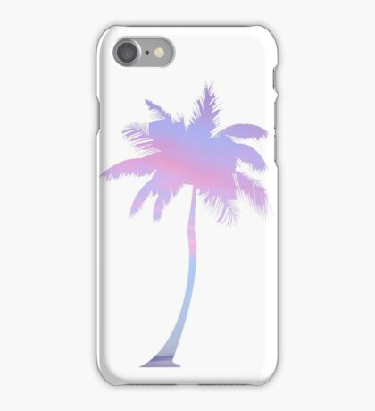 sunset filled palm tree iPhone Case/Skin