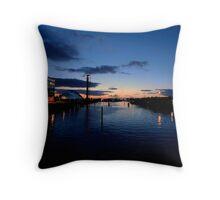 River Clyde Sunset Throw Pillow