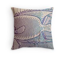 Fish On A Bill Throw Pillow