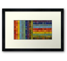 Collage Color Study Sketch Framed Print