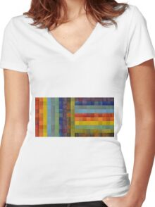 Collage Color Study Sketch Women's Fitted V-Neck T-Shirt
