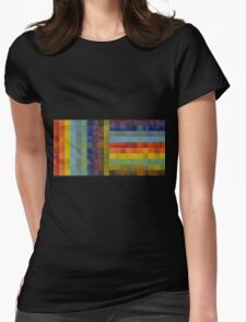 Collage Color Study Sketch Womens Fitted T-Shirt