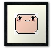 Pixel Finn Head Framed Print